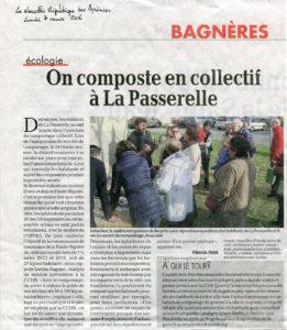 2016 03 07 _ La Nouvelle République des Pyrénées